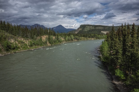 Nenana River from the highway bridge