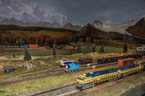Model Train Exhibit at the Fairbanks Train Station