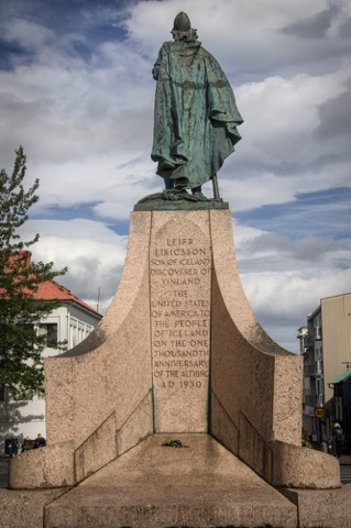 Statue of Leif Erickson, first European traveler to North America